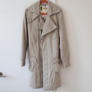 NWOT Beige Trench Style Coat with Lining